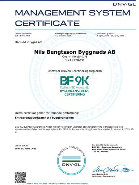 BF9K Certifikat